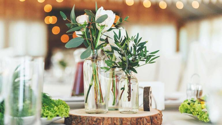 Exotic Flowers and Elements of Decor
